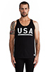 Image 1 of Stampd USA Tank in Black