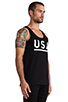 Image 2 of Stampd USA Tank in Black