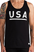 Image 4 of Stampd USA Tank in Black