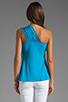 Image 2 of Susana Monaco Light Supplex Sarah Top in Atomic Blue
