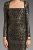 Image 3 of T-Bags LosAngeles Long Sleeve Mini Dress in Black/Gold