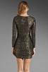 Image 5 of T-Bags LosAngeles Long Sleeve Mini Dress in Black/Gold