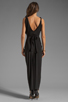 Image 4 of T-Bags LosAngeles Drape Front Maxi Dress in Black