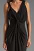 Image 5 of T-Bags LosAngeles Drape Front Maxi Dress in Black