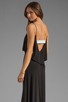 Image 1 of T-Bags LosAngeles Detail Back Maxi Dress in Black