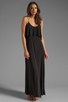 Image 2 of T-Bags LosAngeles Detail Back Maxi Dress in Black