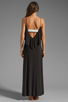 Image 4 of T-Bags LosAngeles Detail Back Maxi Dress in Black