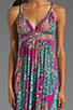 Image 5 of T-Bags LosAngeles Back Detail Maxi in Multi