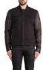 Image 1 of T by Alexander Wang Jean Jacket with Leather Sleeves in Black