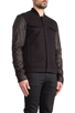 Image 3 of T by Alexander Wang Jean Jacket with Leather Sleeves in Black