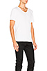 Image 2 of T by Alexander Wang Classic Low Neck Tee in White