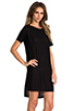 Image 2 of T by Alexander Wang Classic Pilly Boatneck Dress in Black