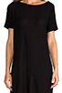 Image 5 of T by Alexander Wang Classic Pilly Boatneck Dress in Black