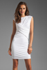 Image 1 of T by Alexander Wang Pique Mesh Sleeveless Dress in Ivory