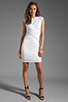 Image 2 of T by Alexander Wang Pique Mesh Sleeveless Dress in Ivory