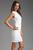 Image 3 of T by Alexander Wang Pique Mesh Sleeveless Dress in Ivory