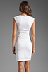 Image 4 of T by Alexander Wang Pique Mesh Sleeveless Dress in Ivory