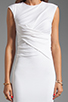 Image 5 of T by Alexander Wang Pique Mesh Sleeveless Dress in Ivory