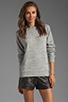 Image 1 of T by Alexander Wang Crew Neck Sweatshirt in Light Heather Grey