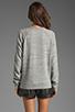 Image 2 of T by Alexander Wang Crew Neck Sweatshirt in Light Heather Grey