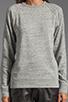 Image 3 of T by Alexander Wang Crew Neck Sweatshirt in Light Heather Grey