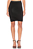 Image 1 of T by Alexander Wang Marled Drape Jersey Skirt in Black