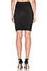 Image 3 of T by Alexander Wang Marled Drape Jersey Skirt in Black