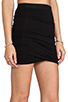 Image 5 of T by Alexander Wang Marled Drape Jersey Skirt in Black