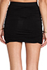 Image 6 of T by Alexander Wang Marled Drape Jersey Skirt in Black