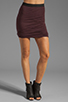Image 1 of T by Alexander Wang Micro Modal Spandex Twist Skirt in Iodine