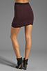 Image 3 of T by Alexander Wang Micro Modal Spandex Twist Skirt in Iodine