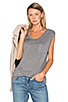Image 1 of T by Alexander Wang Classic Muscle T in Heather Grey