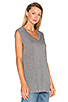 Image 2 of T by Alexander Wang Classic Muscle T in Heather Grey
