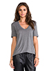 Image 1 of T by Alexander Wang Classic T with Pocket in Heather Grey