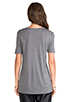 Image 3 of T by Alexander Wang Classic T with Pocket in Heather Grey