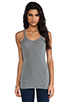 Image 1 of T by Alexander Wang Cami Tank in Heather Grey