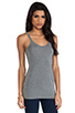 Image 2 of T by Alexander Wang Cami Tank in Heather Grey