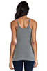 Image 3 of T by Alexander Wang Cami Tank in Heather Grey