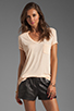 Image 1 of T by Alexander Wang Classic Tee with Pocket in Sorbet