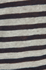 Image 4 of T by Alexander Wang Linen Stripe Long Sleeve Tee in Ink/Ivory