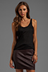 Image 1 of T by Alexander Wang Criss-Cross Back Tank in Black
