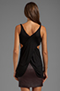 Image 2 of T by Alexander Wang Criss-Cross Back Tank in Black