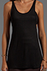 Image 3 of T by Alexander Wang Criss-Cross Back Tank in Black