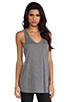 Image 2 of T by Alexander Wang Classic Tank Pocket in Heather Grey