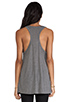 Image 3 of T by Alexander Wang Classic Tank Pocket in Heather Grey