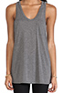 Image 4 of T by Alexander Wang Classic Tank Pocket in Heather Grey
