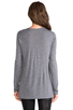 Image 3 of T by Alexander Wang Classic Long Sleeve Pocket in Heather Grey