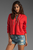 Image 1 of TEXTILE Elizabeth and James 1/2 Zip Perfect Sweatshirt in Strawberry