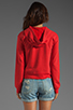 Image 2 of TEXTILE Elizabeth and James 1/2 Zip Perfect Sweatshirt in Strawberry