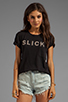 Image 1 of TEXTILE Elizabeth and James Slick Bowery Tee in Black/Grey